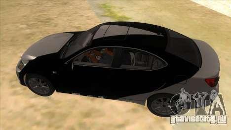 Lexus ISF для GTA San Andreas вид снизу