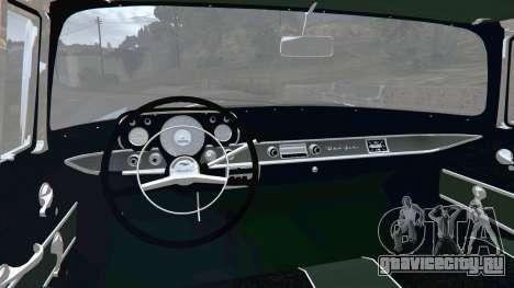 Chevrolet Bel Air Sport Coupe 1957 v1.5 для GTA 5 вид сзади справа