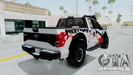 Ford F-150 Raptor 2015 для GTA San Andreas вид слева