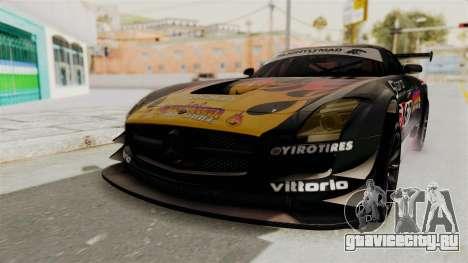 Mercedes-Benz SLS AMG GT3 PJ1 для GTA San Andreas вид сбоку