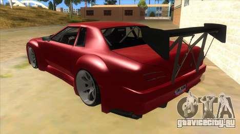Elegy Tio Sam Style для GTA San Andreas вид сзади слева
