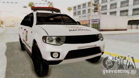 Mitsubishi Pajero Policia Nacional Paraguaya для GTA San Andreas
