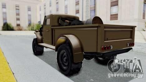 GTA 5 Bravado Duneloader Cleaner для GTA San Andreas вид сзади слева