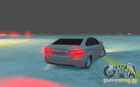 Lada Vesta для GTA 4 вид справа