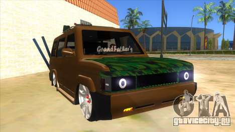 Toyota Kijang Grand Extra Full для GTA San Andreas вид сзади