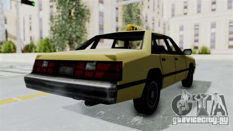 GTA Vice City - Taxi для GTA San Andreas вид слева
