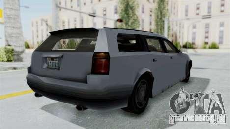 GTA LCS Sindacco Argento v2 для GTA San Andreas вид сзади слева