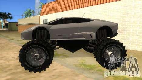 Lamborghini Reventon Monster Truck для GTA San Andreas вид слева