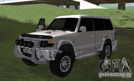 Mitsubishi Pajero 2 для GTA San Andreas вид сзади