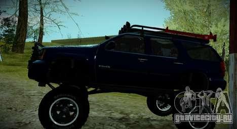 Chevrolet Tahoe LTZ 4x4 для GTA San Andreas вид сбоку
