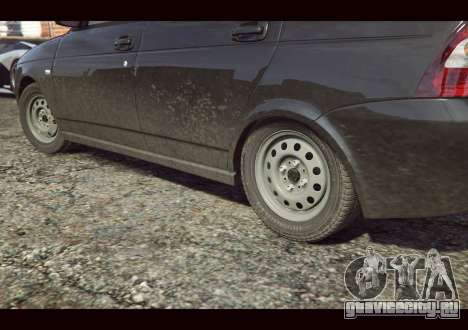 ВАЗ 2170 для GTA 5 вид сзади слева