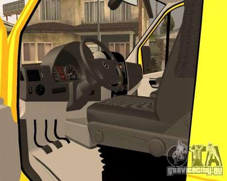 Mersedes-Benz Sprinter Towtruck для GTA San Andreas вид сзади слева