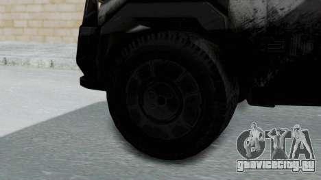 Advanced Warfare Tactical Pickup для GTA San Andreas вид сзади слева