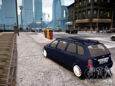 ВАЗ 1117 Калина 7-door для GTA 4 вид сзади слева