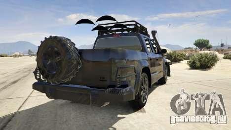 Volkswagen Amarok Apocalypse для GTA 5 вид сзади слева