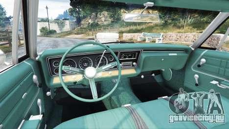 Chevrolet Impala 1967 для GTA 5 вид сзади справа