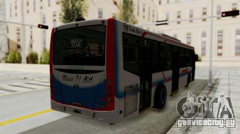 Todo Bus Pompeya II Agrale MT15 Linea 71 для GTA San Andreas вид сзади слева