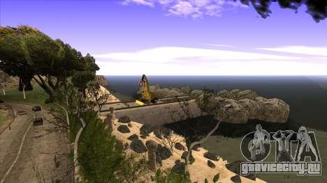 Строительство моста и густой лес для GTA San Andreas девятый скриншот