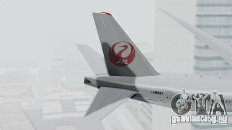 Boeing 777-9X Japan Airlines для GTA San Andreas вид сзади слева