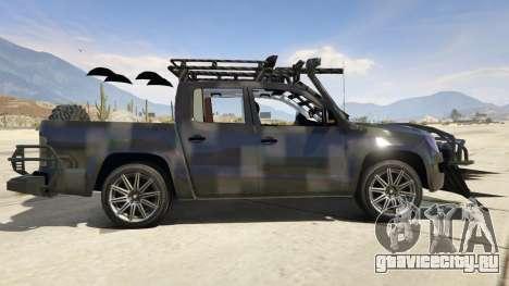 Volkswagen Amarok Apocalypse для GTA 5 вид слева