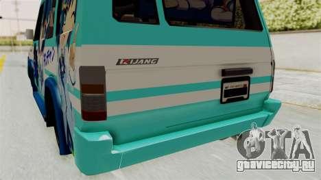 Toyota Kijang Grand Extra Itasha для GTA San Andreas вид сверху