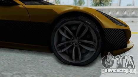 Rimac Concept One для GTA San Andreas вид сзади