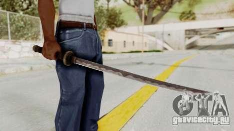 Skyrim Iron Wakizashi для GTA San Andreas третий скриншот