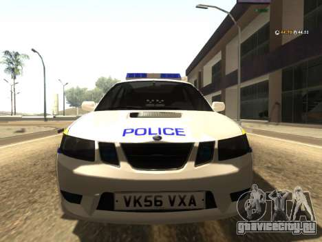 SAAB 9-2 Aero Turbo Generic UK Police для GTA San Andreas вид слева