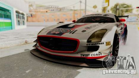 Mercedes-Benz SLS AMG GT3 PJ1 для GTA San Andreas двигатель