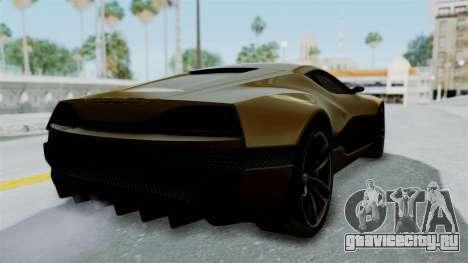 Rimac Concept One для GTA San Andreas вид сзади слева