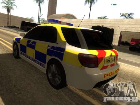 SAAB 9-2 Aero Turbo Generic UK Police для GTA San Andreas вид сзади слева