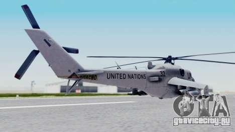 Mi-24V United Nations 032 для GTA San Andreas вид слева