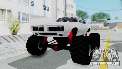 Pontiac GTO 1968 Monster Truck для GTA San Andreas вид сзади слева