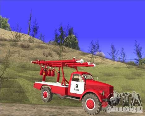 ГАЗ 63 АПГ-14 Пожарный автомобиль для GTA San Andreas вид слева