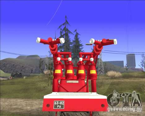 ГАЗ 63 АПГ-14 Пожарный автомобиль для GTA San Andreas вид справа