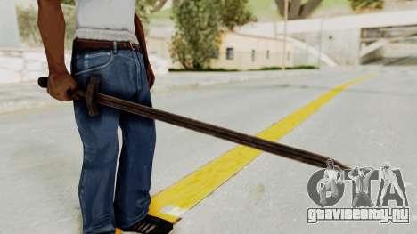 Skyrim Iron Sword для GTA San Andreas