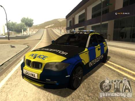 BMW 120i SE UK Police ANPR Interceptor для GTA San Andreas