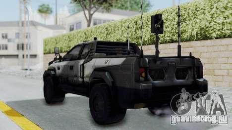 Advanced Warfare Tactical Pickup для GTA San Andreas вид слева