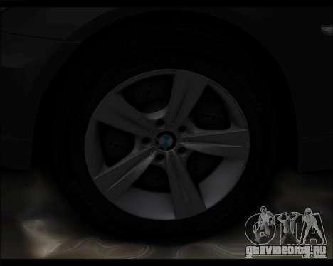 BMW 530xd stock для GTA San Andreas вид изнутри