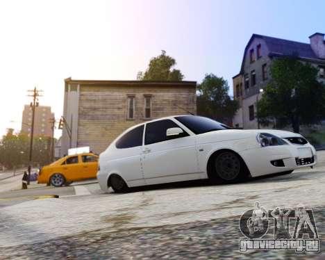 Lada Priora Coupe для GTA 4 вид сзади слева