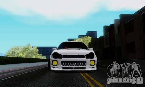 Subaru Impreza WRX STi Wagon Stens для GTA San Andreas вид сзади