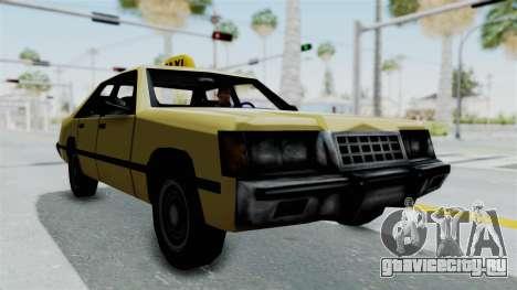 GTA Vice City - Taxi для GTA San Andreas вид сзади слева
