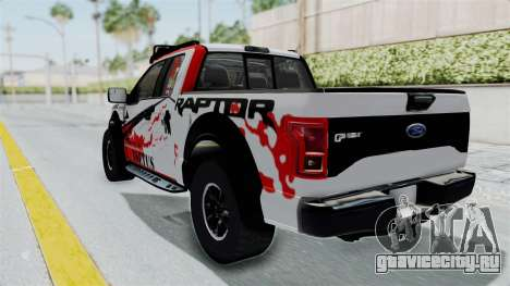 Ford F-150 Raptor 2015 для GTA San Andreas вид сзади слева