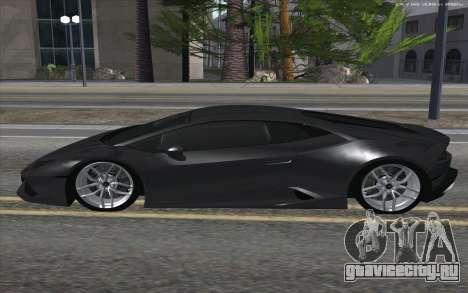 Lamborghini Huracan для GTA San Andreas вид слева