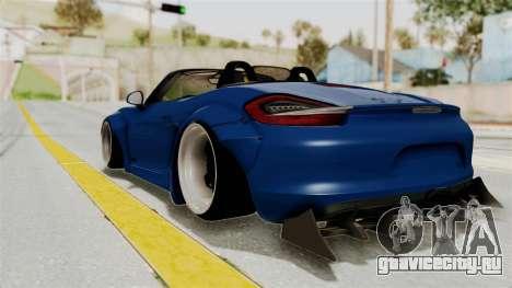 Porsche Boxster Liberty Walk для GTA San Andreas вид слева