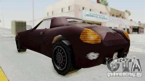 GTA 3 Stinger для GTA San Andreas вид сзади слева