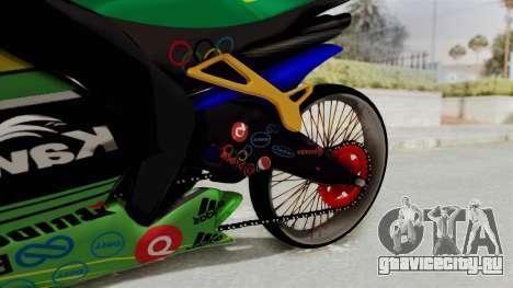 Kawasaki Ninja ZXRR56R для GTA San Andreas вид справа