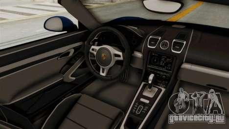 Porsche Boxster Liberty Walk для GTA San Andreas вид изнутри