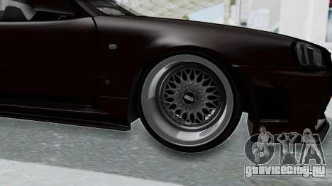 Nissan Skyline R34 GTR 2002 V-Spec II S-Tune для GTA San Andreas вид сзади