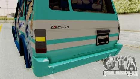 Toyota Kijang Grand Extra Itasha для GTA San Andreas вид снизу